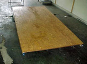 3/4 inch plywood is used for trailer floor.