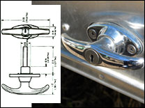 Curved T-Handle Reproduction Door Handle